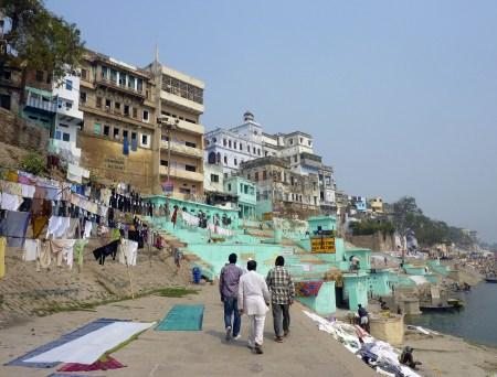 El Ghat de Lal, a orillas del río Ganges, en Benarés